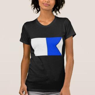 navy flag alpha design T-Shirt