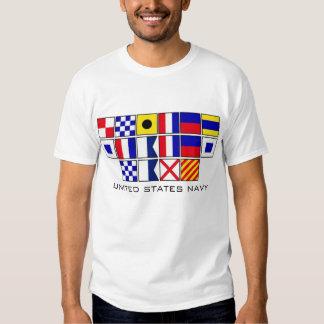 Navy Flags 2 T Shirt
