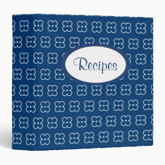 Navy Flower Recipe Binder