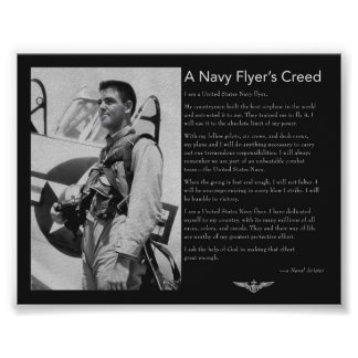 Navy Flyer's Creed Poster