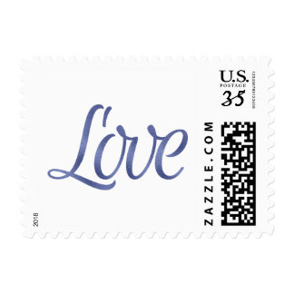 Navy foil love stamps
