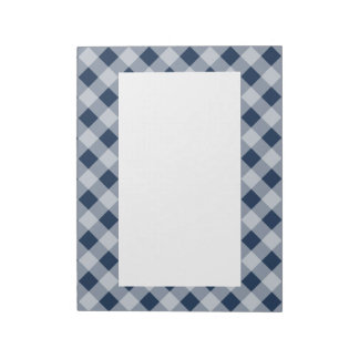 Navy Gingham Notepad