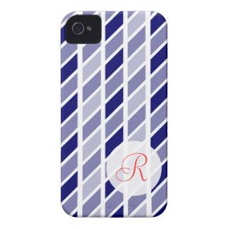 Navy gingham w/ monogram iPhone 4 covers