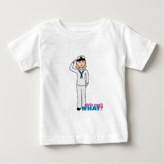 Navy Girl in Sailor Uniform Baby T-Shirt