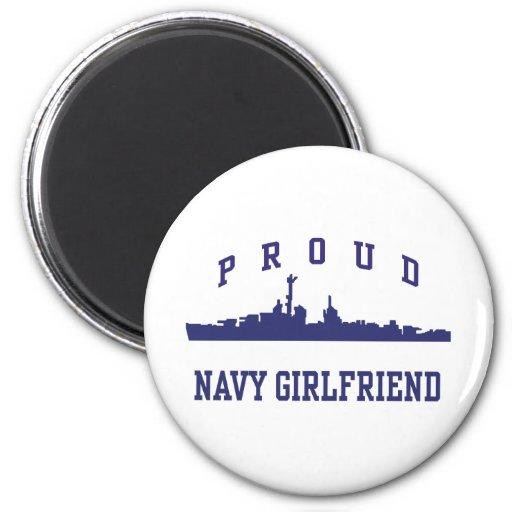Navy Girlfriend 2 Inch Round Magnet