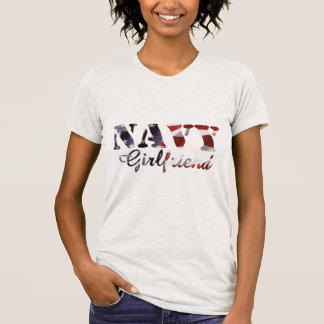 Navy Girlfriend American Flag T-Shirt