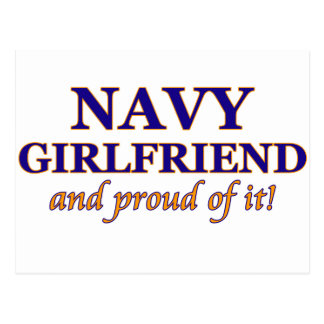 Navy Girlfriend and Proud of It Postcard