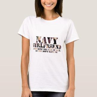 Navy Girlfriend Answering Call T-Shirt