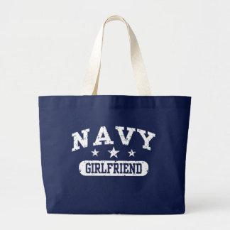 Navy Girlfriend Jumbo Tote Bag