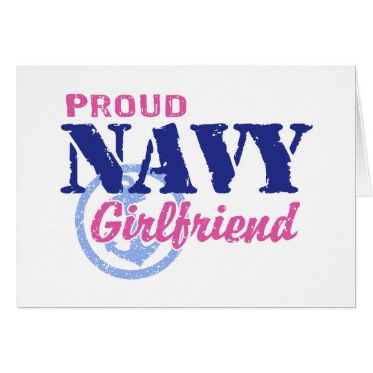 Navy Girlfriend Card