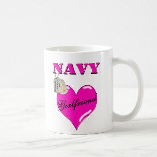 Navy Girlfriend Coffee Cup