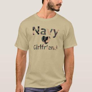 Navy Girlfriend Heart Camo T-Shirt