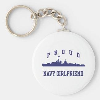 Navy Girlfriend Key Chain