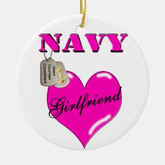 Navy Girlfriend Ornament