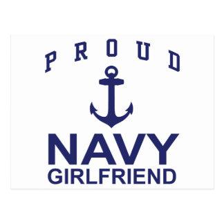 Navy Girlfriend Postcard