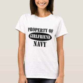 Navy Girlfriend Property T-Shirt