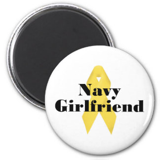 Navy Girlfriend Ribbon Magnet
