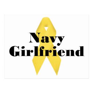 Navy Girlfriend Ribbon Postcard
