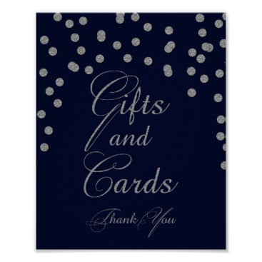 Navy Glitter gifts and cards Sign