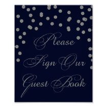 Navy Glitter Please sign our guest book Sign