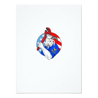 Navy Goat Holding Pipe Wrench USA Flag Circle Retr Card