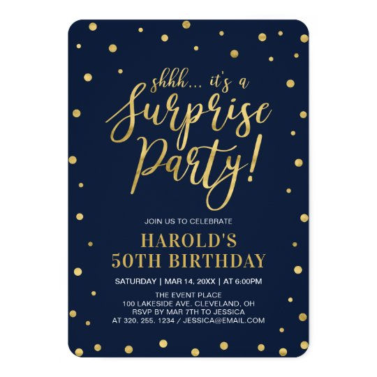 Golden Ticket 50th Birthday Party Invitation