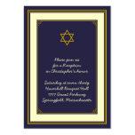 Navy & Gold Bar Mitzvah Reception Card Business Card Template