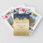 Navy Gold Butterflies 50th Anniversary Bicycle Playing Cards