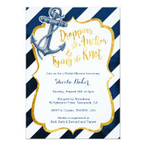 Navy & Gold Nautical Bridal Shower Invitation