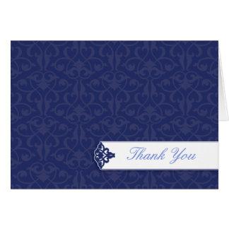 Navy Graduation Thank You Card