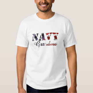 Navy Grandma American Flag T-Shirt