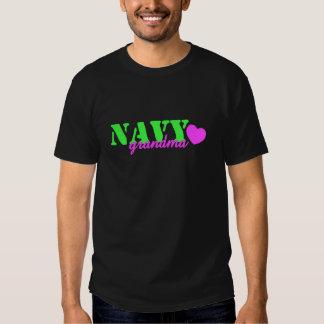 Navy Grandma Lime Green T Shirt