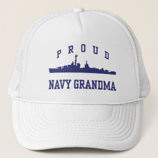 Navy Grandma Trucker Hat