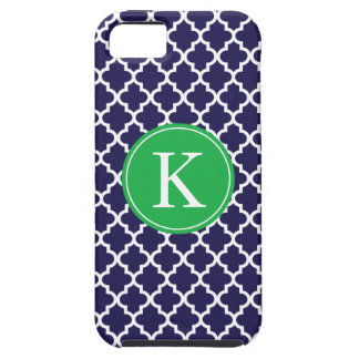 Navy Green Moroccan Monogram | Apple iPhone 5 iPhone 5 Cover