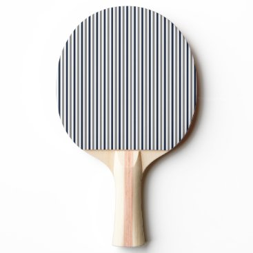 Aztec Themed Navy Grey and White Vertical Stripes Ping Pong Paddle