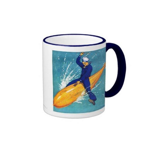 Navy Guy on Torpedo Mug