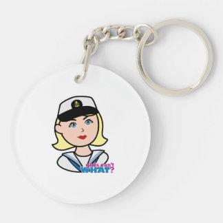 Navy Head - Light/Blonde Keychain