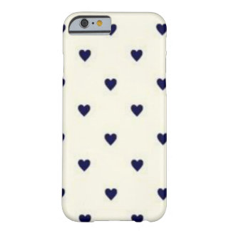 Navy Hearts Barely There iPhone 6 Case