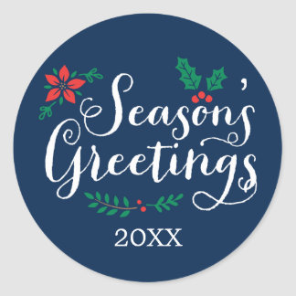 Navy Holiday Sticker | Season's Greetings