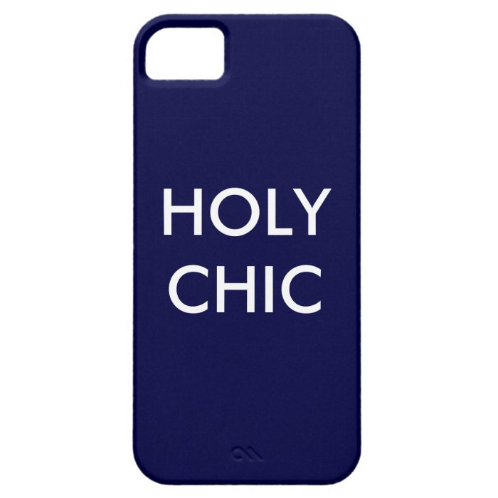Navy Holy Chic iPhone 5 Case-Mate Barely There iPhone SE/5/5s Case