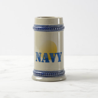 Navy Horizon Beer Stein