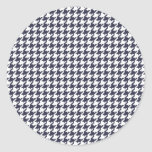 Navy Houndstooth Stickers