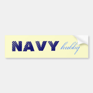 Navy hubby husband military bumper sticker