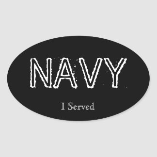 "Navy ""I served"" Oval Sticker"