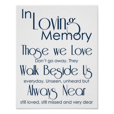Wedding Themed Navy In Loving Memory Wedding Sign