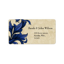 Navy ivory Vintage Flourish Wedding Label
