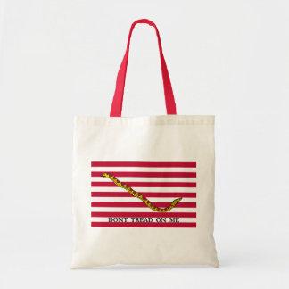 Navy Jack Flag - Don't Tread On Me Tote Bag
