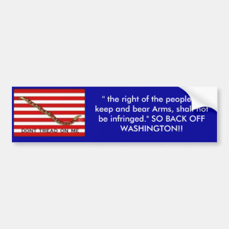 "Navy-Jack-med, "" the right of the people to kee... Bumper Sticker"
