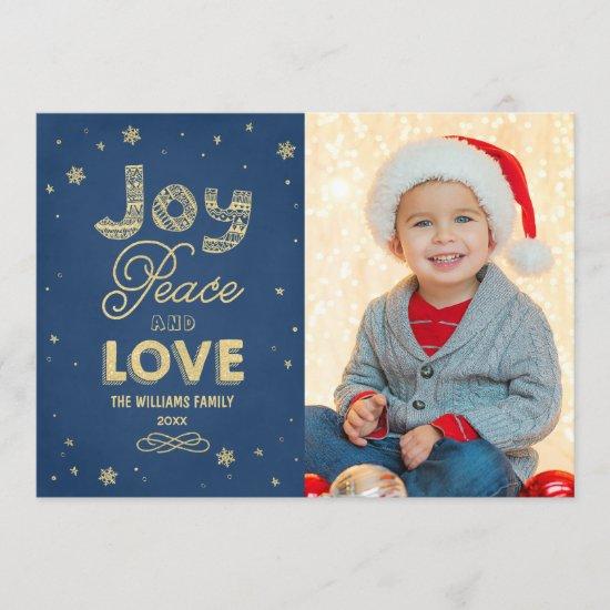 Navy Joy Peace and Love | Holiday Multi-Photo