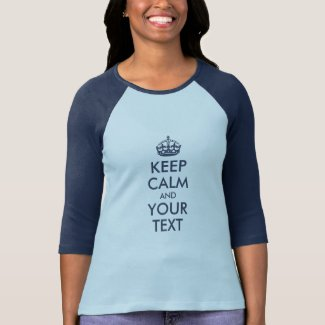 NAVY KEEP CALM AND YOUR TEXT T-Shirt